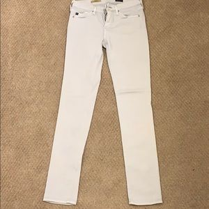 AG Stretch sateen skinny jeans - icy blue